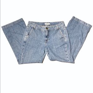 Ann Taylor High Waisted 6 Petite Flare Jeans